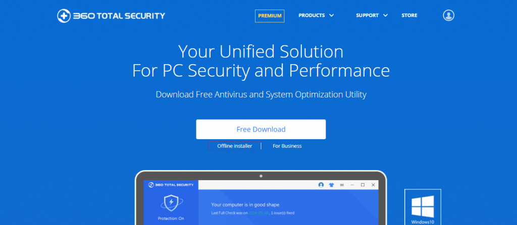 360 total security best antivirus software free