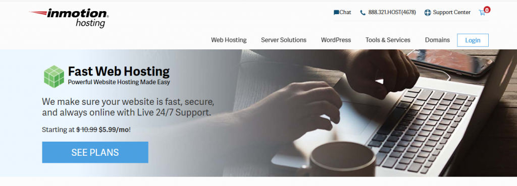 InMotion a Secure and Reliable hosting
