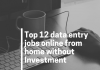 Top 12 data entry jobs online from home without Investment