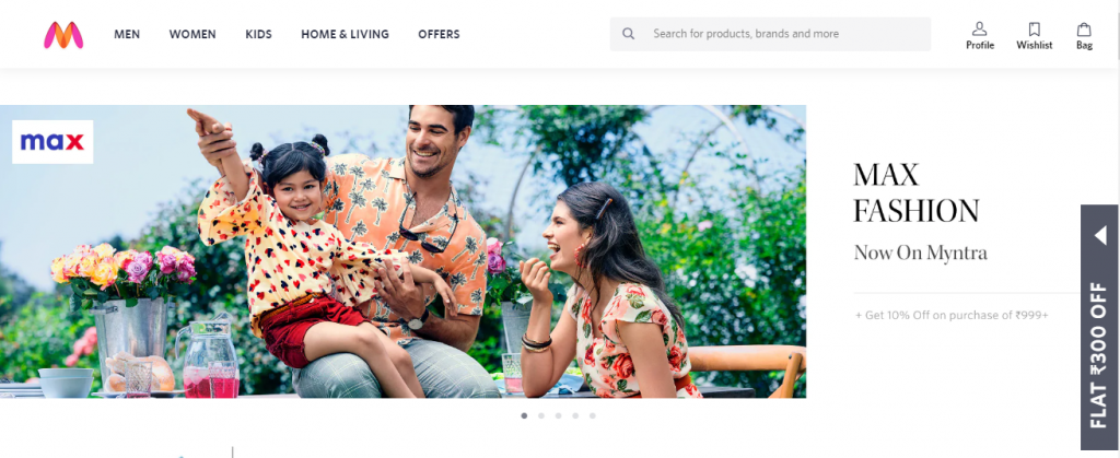 Myntra online shopping sites in india
