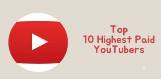 top 10 highest paid youtubers